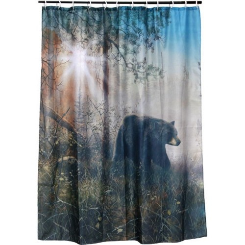 Outdoor Themed Shower Curtains Contemporary Bathroom Sho