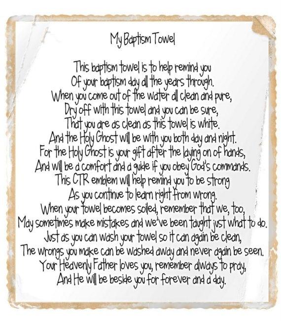 towel poem | Church Stuff | Pinterest