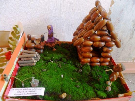 Фото поделки из природного материала для детского сада