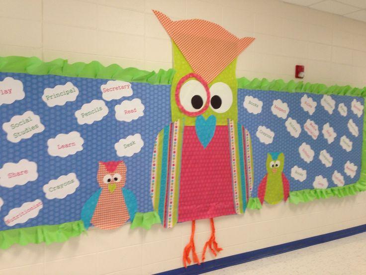 Classroom Bulletin Board Ideas With Owls ~ Owl bulletin board themed classroom ideas pinterest