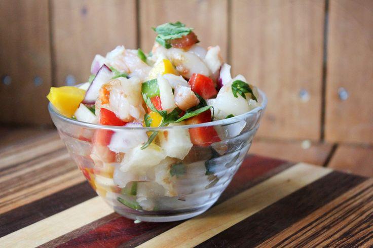 Habanero Shrimp and Jicama Salsa | The Pescetarian and the Pig