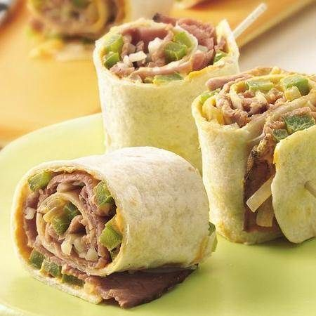 Beef and Swiss Roll Ups | Recipe