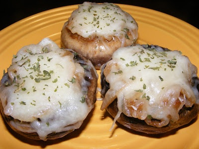 French Onion Soup Stuffed Mushrooms   foods that will kill me   Pinte ...