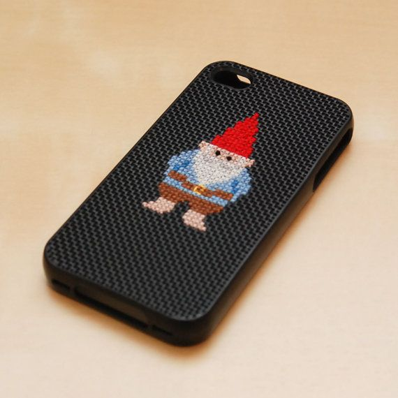 Cross stitch iphone case - Rose knows how I feel about gnomes!