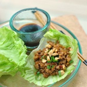 Asian Lettuce Wraps with Ground Beef or Ground Turkey