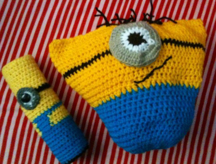 Minion cushion n pencil case | My Crochet Projects | Pinterest