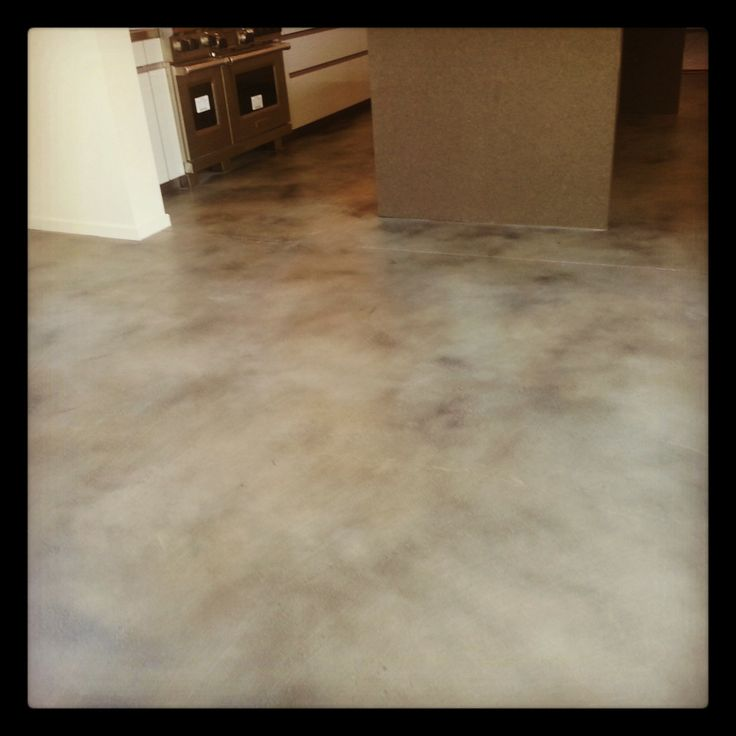 Residential stained concrete floors the for Residential concrete floors