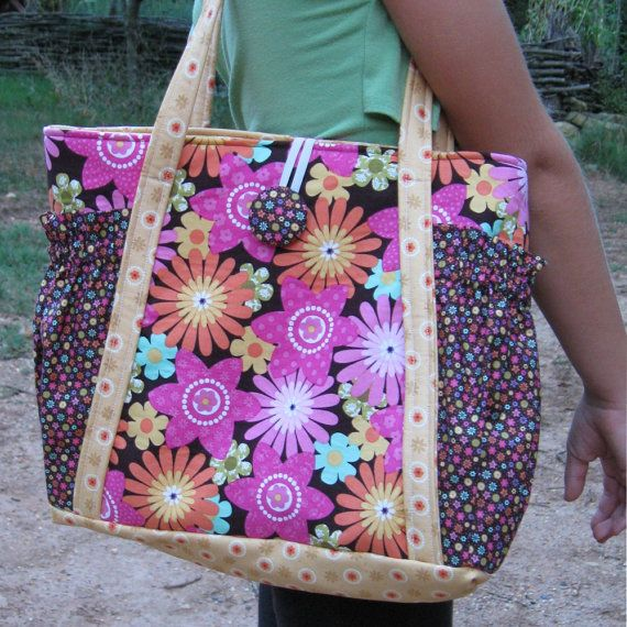Original satchel tote bag pdf sewing pattern instant