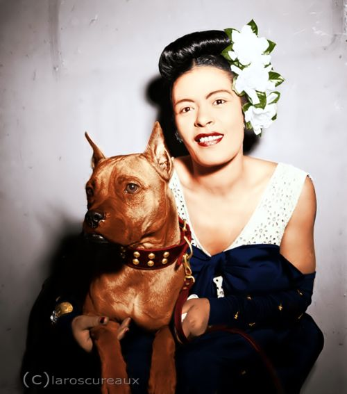 Billie Holiday and Mister, 1947  BEAUTIFUL PIT