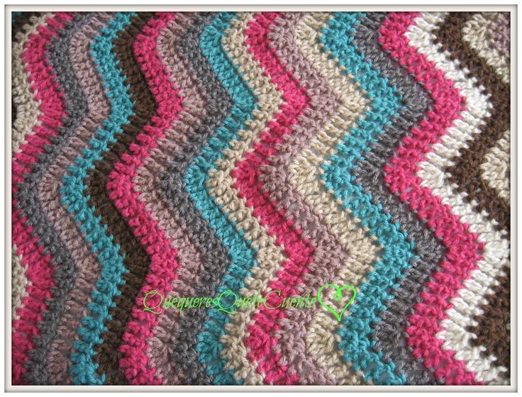 manta zig zag a crochet Mi crochet Pinterest