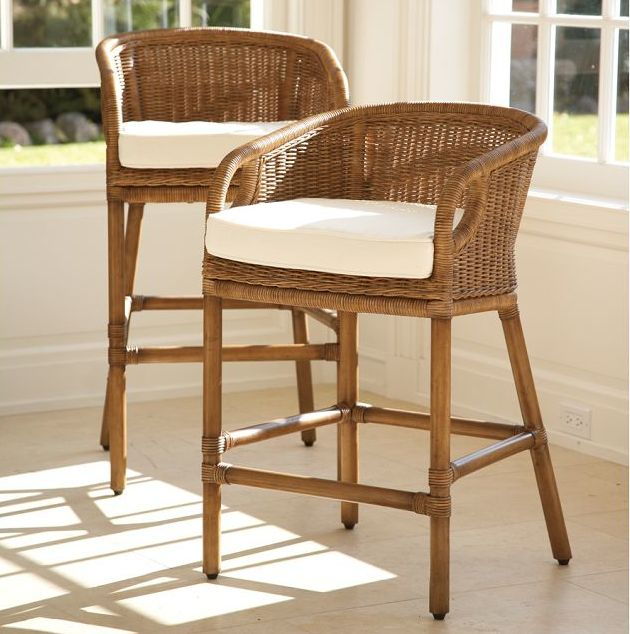 Woven Counter Stools S E A S I D E Pinterest
