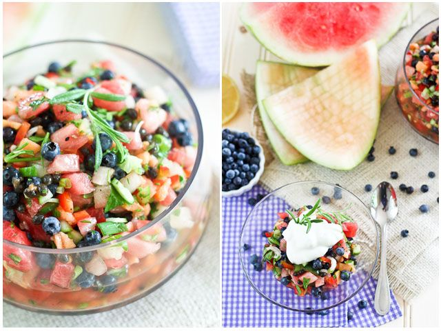 Watermelon Blueberry Salsa   by Sonia! The Healthy Foodie I would ...