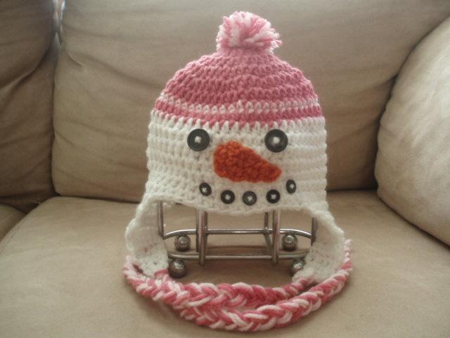 Snowman Hat Crochet Pattern PDF Format