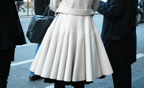 Winter White is so chic...pleats to the max