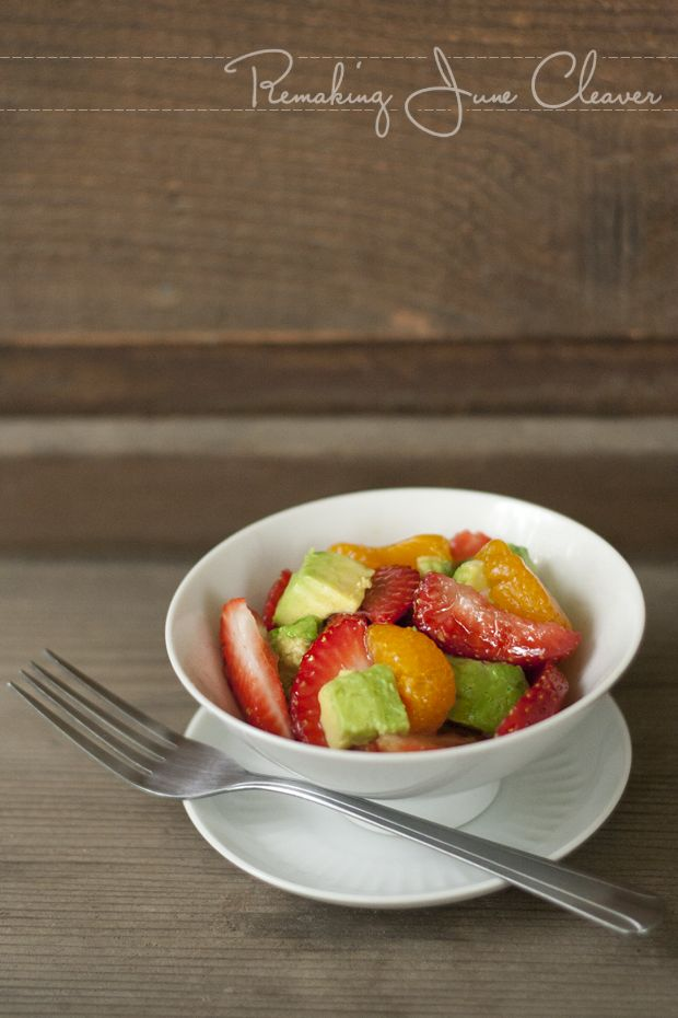 Avocado Strawberry and Mandarin Salad with Brown Sugar Vinaigrette ...