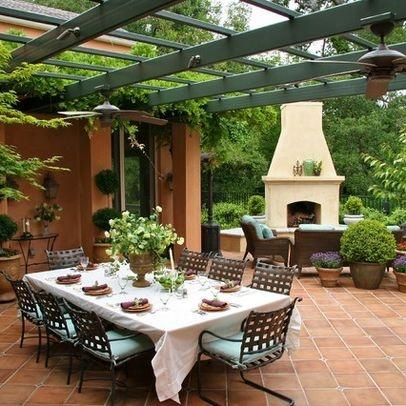 Patio design home italian villa pinterest for Italian patio design