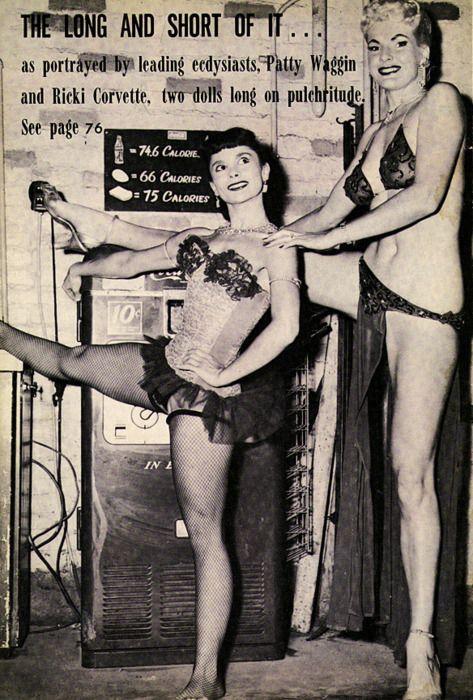 "At 6'8,"" Ricki Covette was the tallest burlesque dancer"
