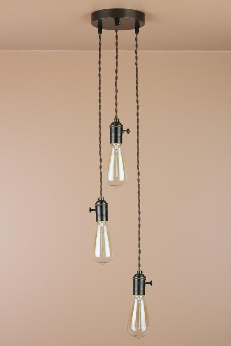 light chandelier cascading pendant lights edison light bulbs. Black Bedroom Furniture Sets. Home Design Ideas