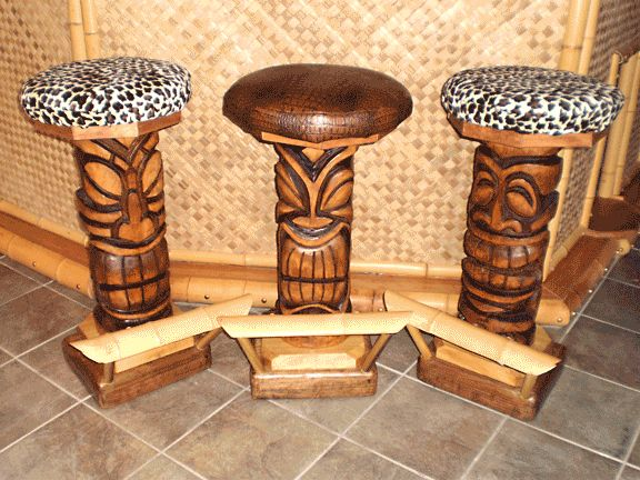 Outdoor Tiki Bar Stools :  Styles of Tiki Bar Stools for bars, restaurants, pubs or outdoor