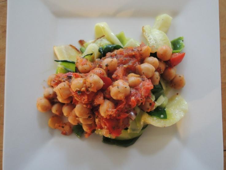 Zucchini Noodles with Arrabiata Chickpea Sauce   Recipe