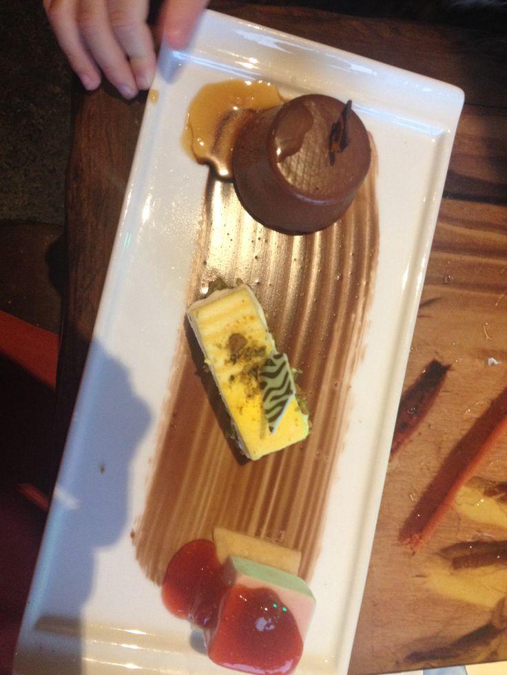 Sanaa's Dessert Trio: Kenyan Coffee Chocolate Rum Cake, Tropical Fruit ...