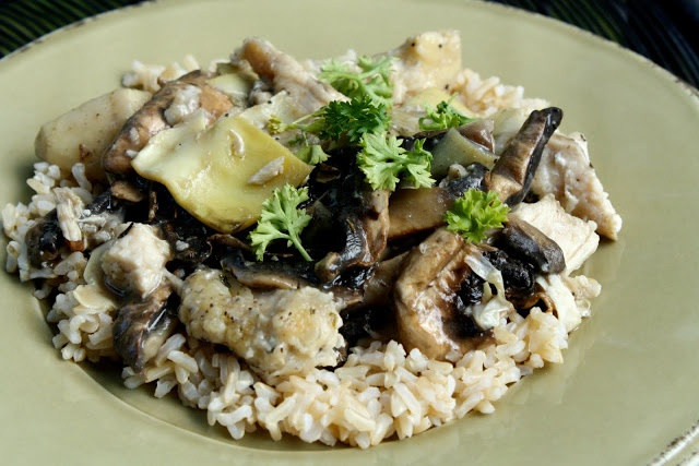 Chicken and Artichokes in a White Wine Sauce...replace flour with ...