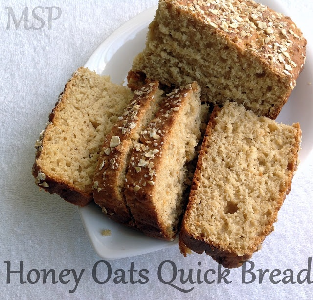 Honey Oats Quick Bread | Hi. I like food. Bye. | Pinterest