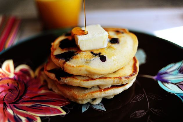 lemon blueberry pancakes | DESSERTS | Pinterest