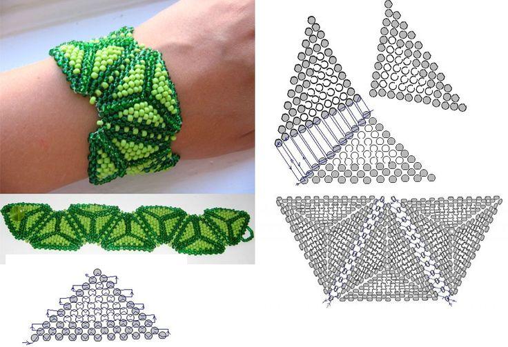 Схема плетения браслета из