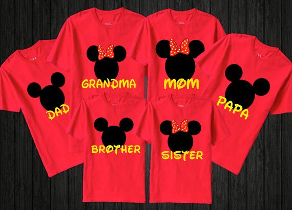 Personalized Disney Family Tshirts Set Of 6 Add By