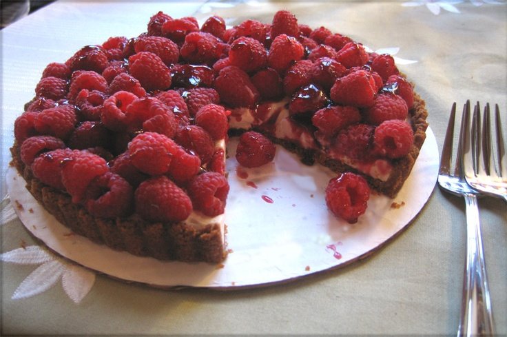Raspberry Sour Cream Tart | Pies, Tarts, Flans, and Creamy Desserts ...