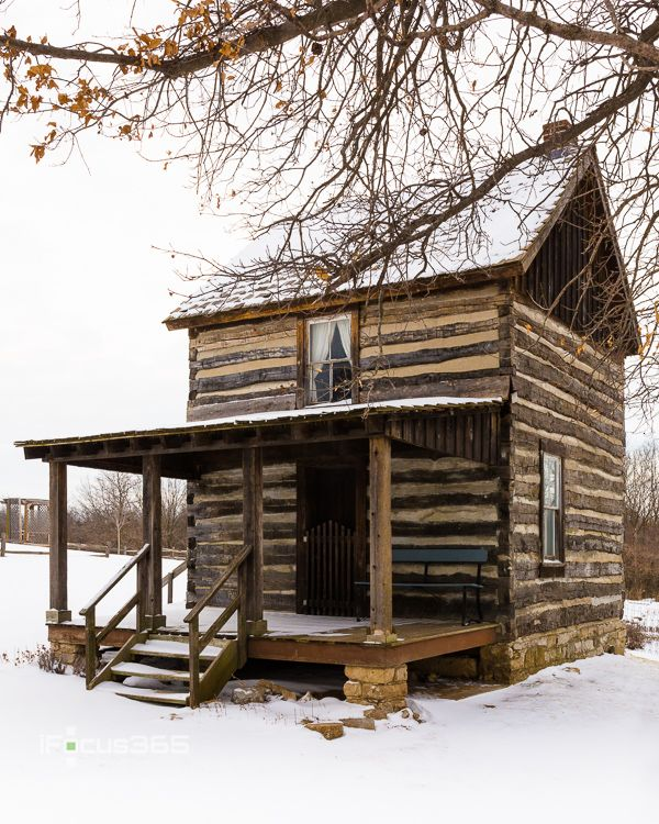Historic Log Cabin In Snow Ipicture365 Photography