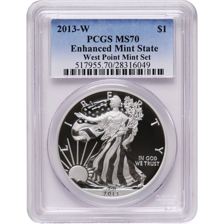 2013 American Silver Eagle West Point Two Coin Set Pcgs 70
