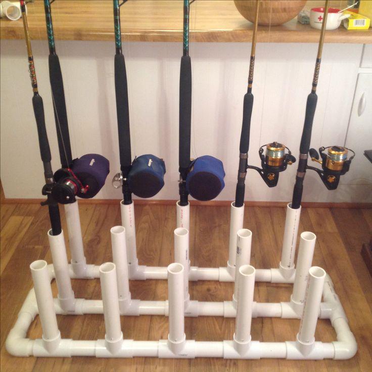 Pvc rod holder fishing pinterest for Pvc fishing rod holder