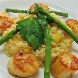 Lemon Asparagus Risotto - Allrecipes.com | Food | Pinterest