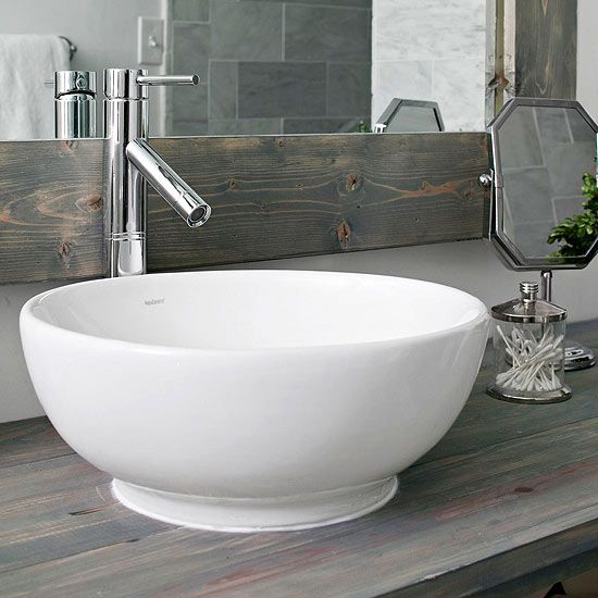 Welcome with a modern country bath for Modern bathroom basins