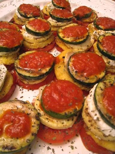 Polenta Veggie Marinara Stacks | In the kitchen... | Pinterest
