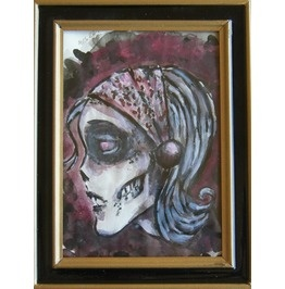 Zombie Watercolor paintingZombie Watercolor Painting