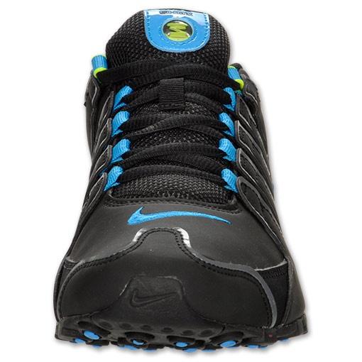 Womens nike shox nz black volt blue glow products i love pinterest