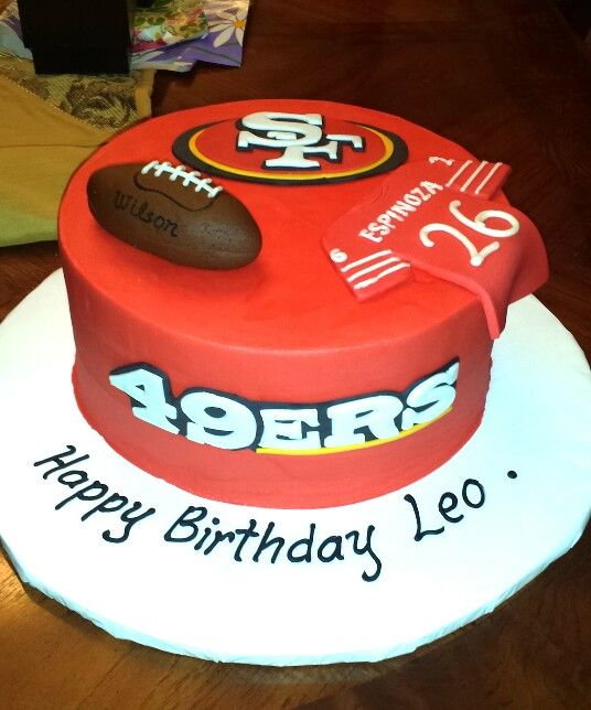 Birthday Cake Design San Francisco : Pin by Heather Moore on 49ers!!! Pinterest