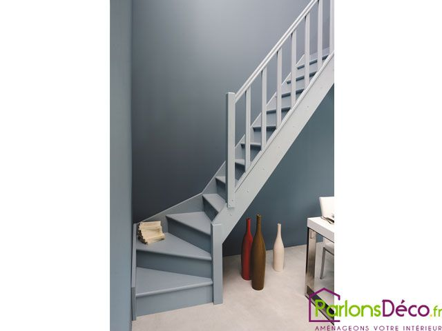 escalier 1 4 tournant droit gris d co pinterest. Black Bedroom Furniture Sets. Home Design Ideas