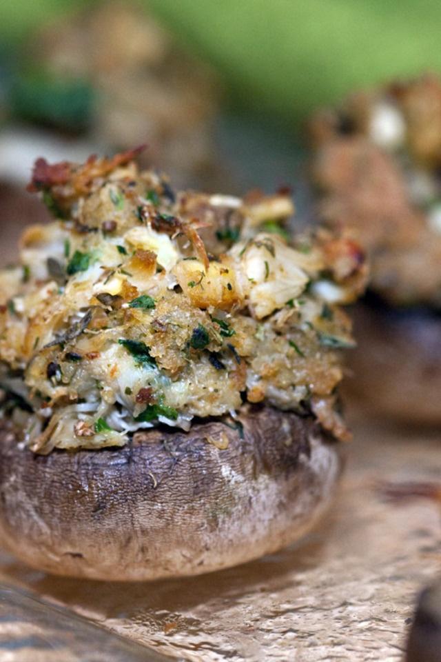 Crabmeat Stuffed Mushrooms | Yummies | Pinterest