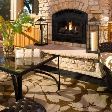 Raised Hearth Fire Pits Fireplaces Pinterest