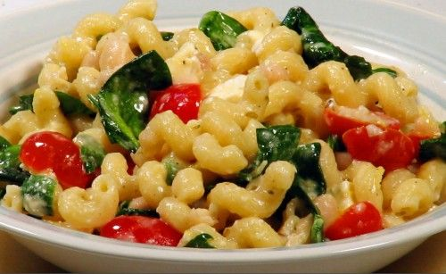 Greek Spinach Pasta Salad- This is a great side salad for a family ...
