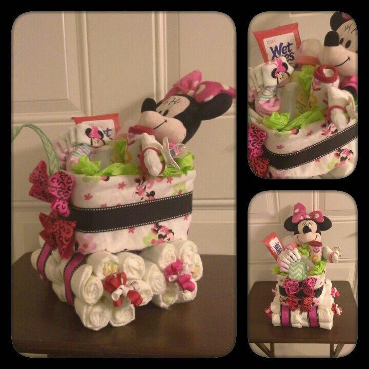 how to make a wagon diaper cake