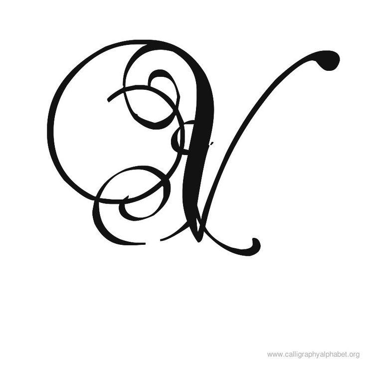 Calligraphy Alphabet Romantic V Calligraphy Pinterest
