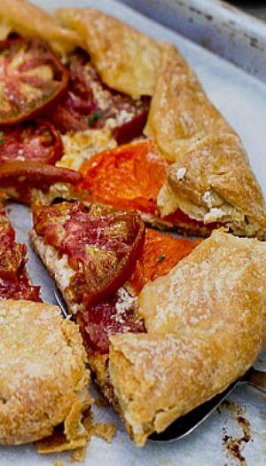 Heirloom Tomato Galette | feed me! | Pinterest