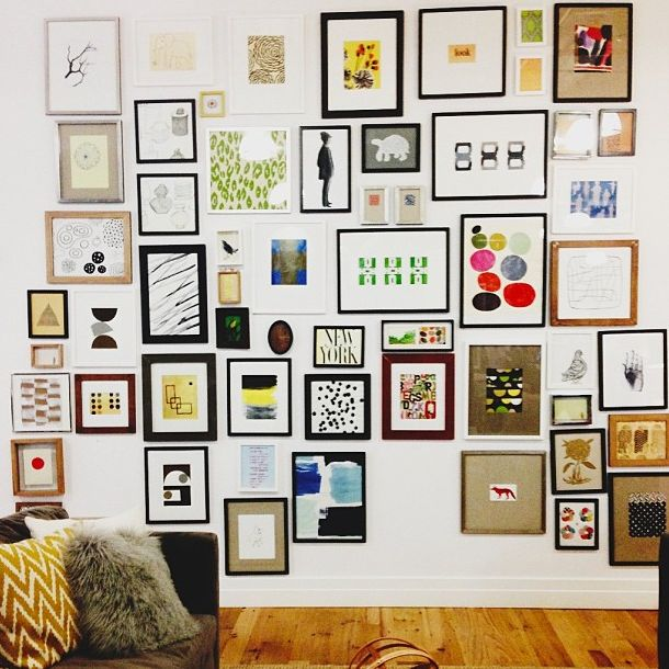 gallery wall at west elm hq
