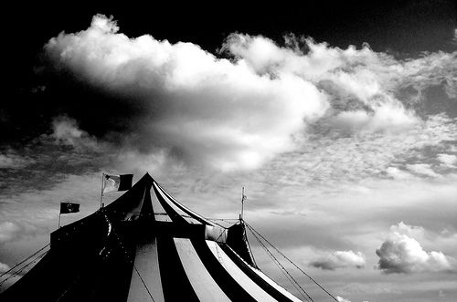 circus tent | Black and white | Pinterest