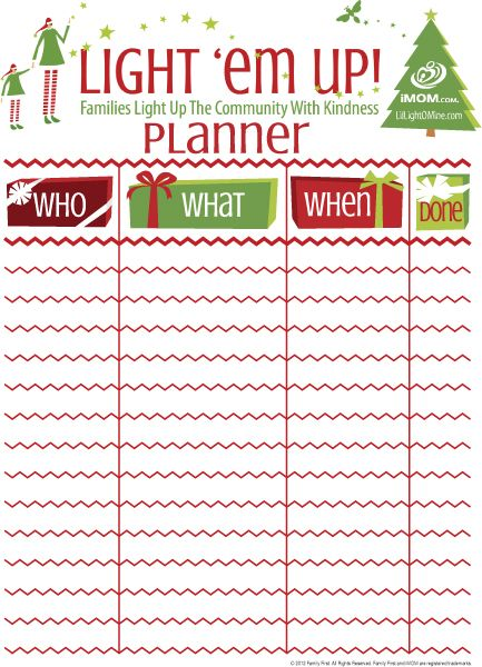 Light 'Em Up Planner | iMOM --- perfect for the whole year...should ...